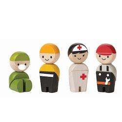 Rescue crew träfigurer