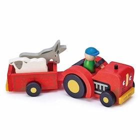 Traktor med släp, Tender Leaf Toys