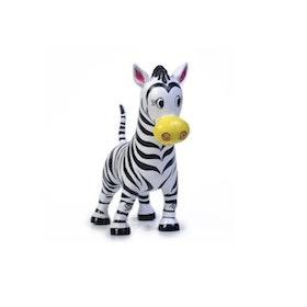 Chum Zippy Zebra, Green Rubber Toys