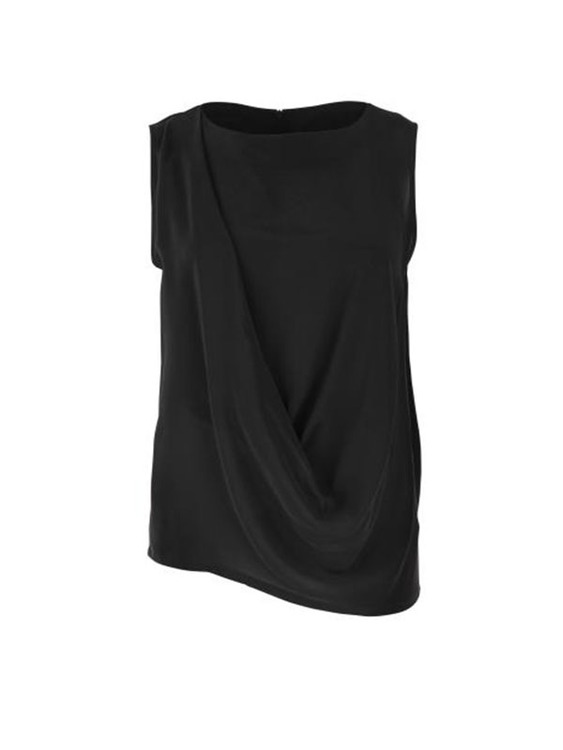 draped silk top