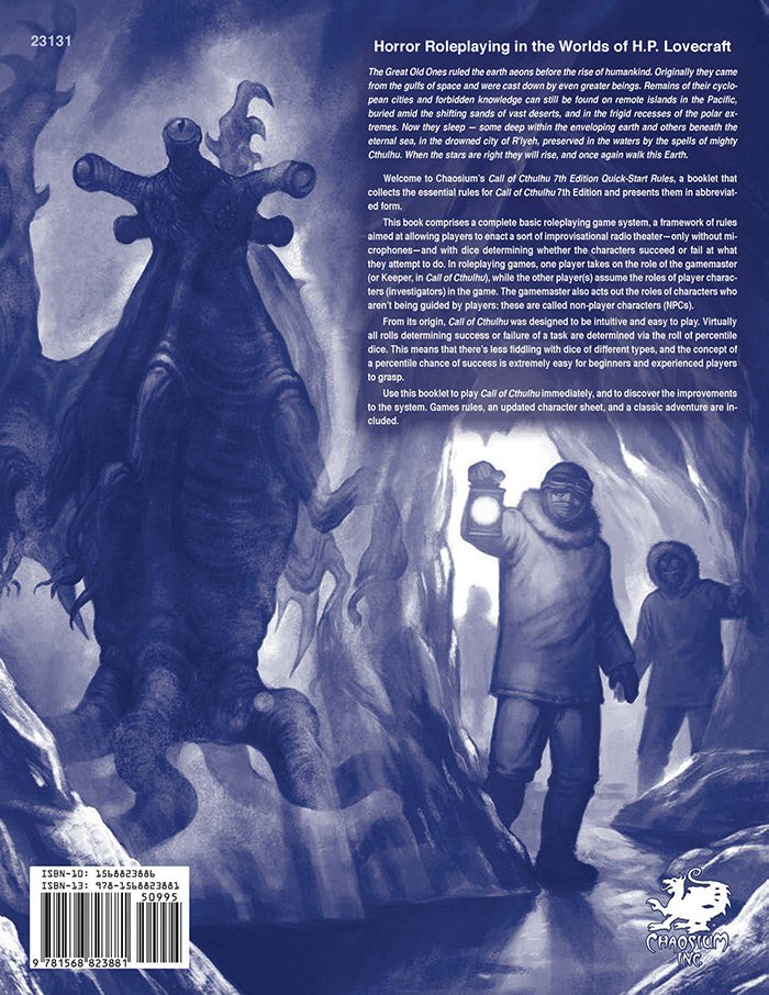 Call of Cthulhu 7th Ed Quick-Start Rules