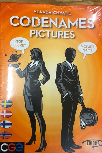 Codenames Pictures Svenska Danska Finska Norska / OBS! DAMAGED BOX