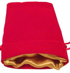 Dice Bag - Red Velvet & Golden Satin