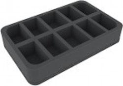 Foam Tray: 10 slots, 5 cm height