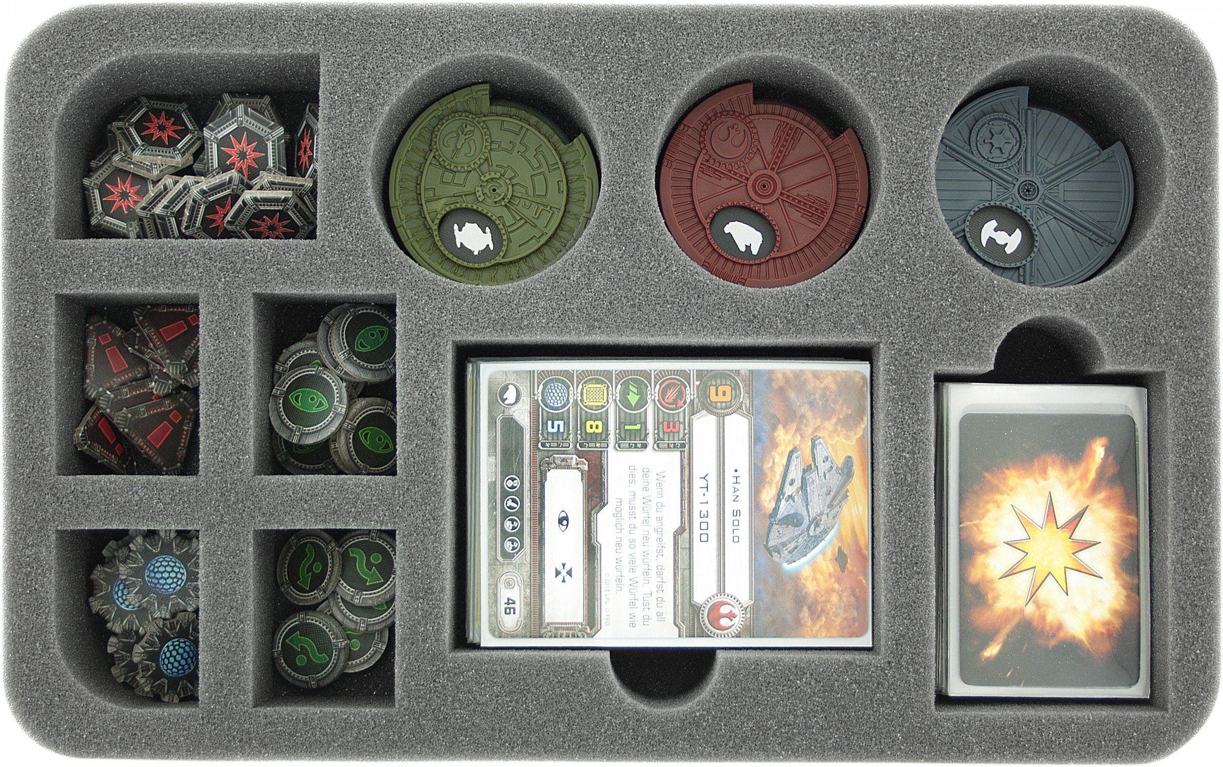 Foam Tray: X-WING Dials + Tokens + Accesories