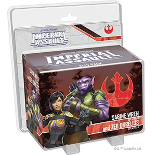Imperial Assault: Sabine Wren and Zeb Orrelios Ally Pack
