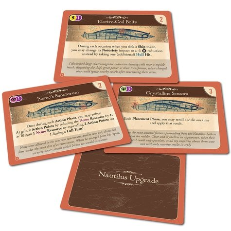 Nemo's War (2nd ed): Nautilus Upgrades Expansion Pack