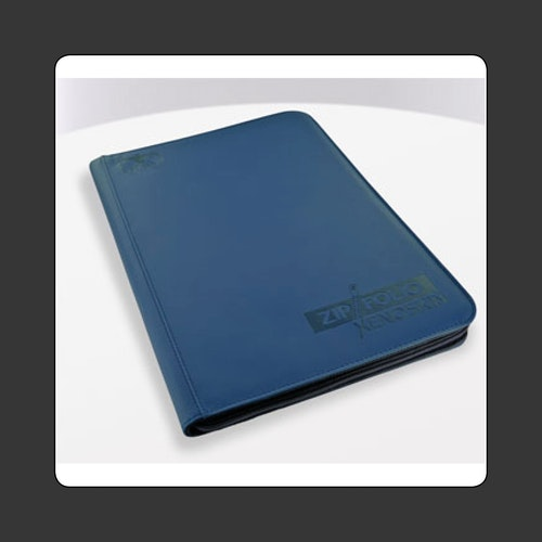 U.G. 9-Pocket Standard Size ZipFolio XenoSkin blue