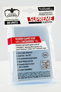 U.G. Supreme Sleeves for 7 Wonders (80 pcs)