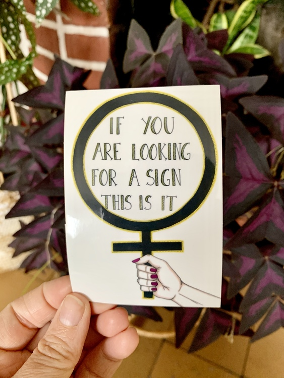 Sticker- The sign