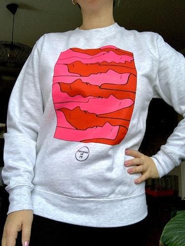 """Grå sweatshirt """"trötta kvinnor"""""""