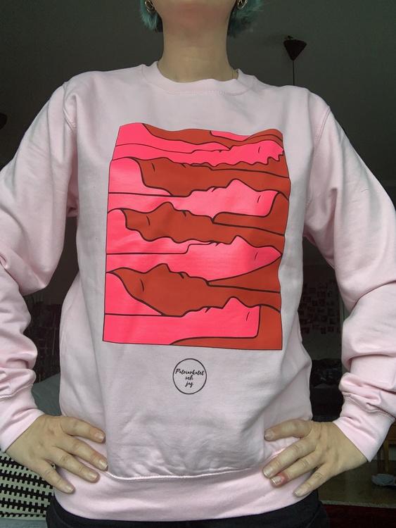"""Rosa sweatshirt """"trötta kvinnor"""""""