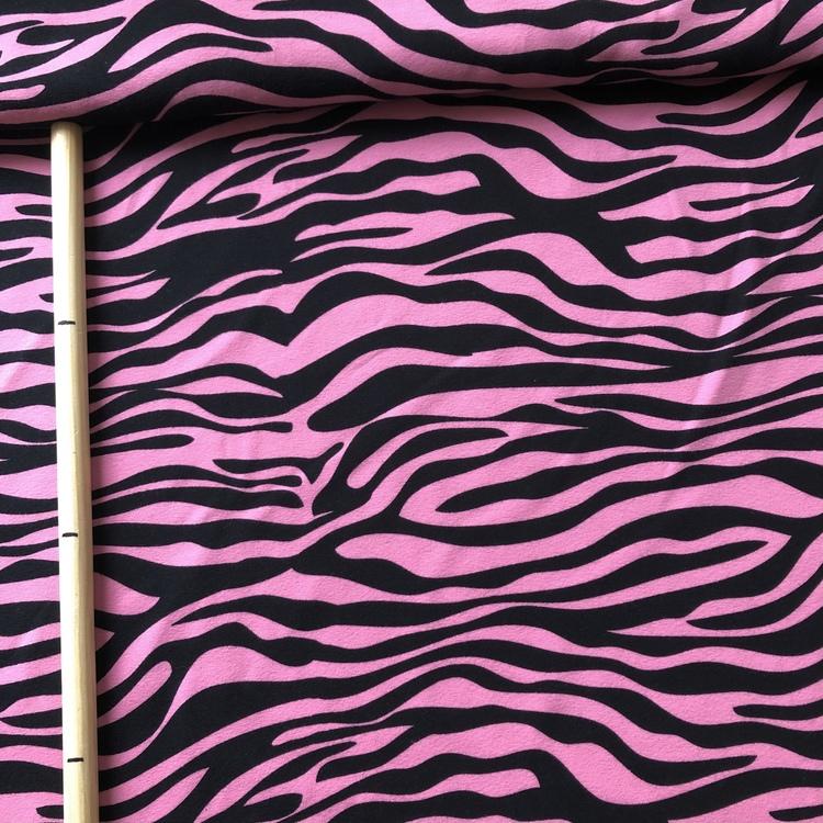 EKO Bomullsjersey - Zebra rosa