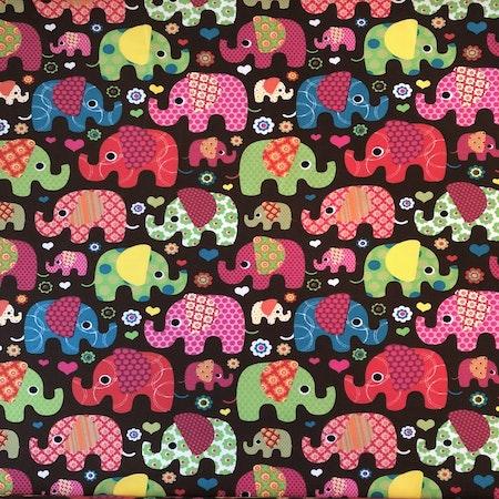 Bomullsjersey - Elefanter