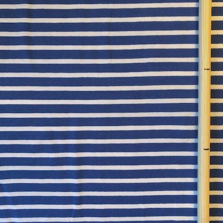 EKO Bomullsjersey - Randig blå/vit