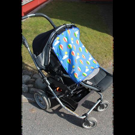 Solskydd till barnvagnen / Barnvagnsdraperi