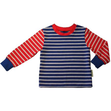 EKO Tröja, randig blå/vit/röd