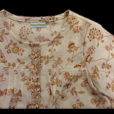 ÅTERBRUK  Blus med bruna blommor