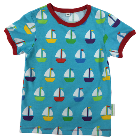 EKO  T-shirt med segelbåtar