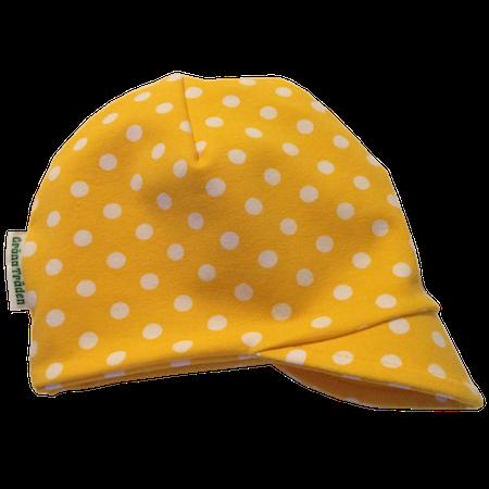 EKO  Meps - kepsmössa - gul med vita prickar