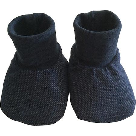 EKO  Tossor i jeanslook, med ullfoder