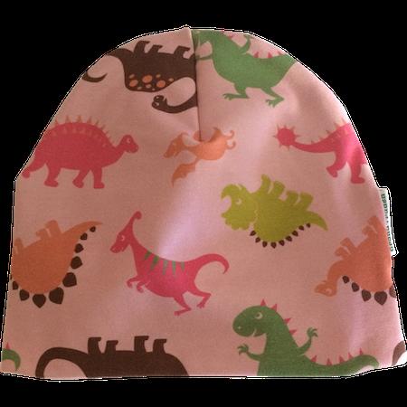 EKO  Mössa med dinosaurier, rosa
