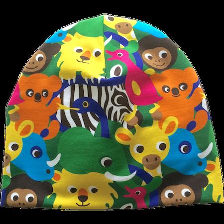 EKO  Mössa, Färgglada djur