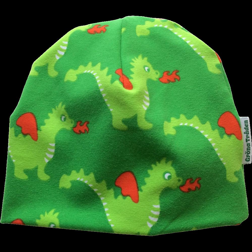 EKO  Mössa med gröna drakar