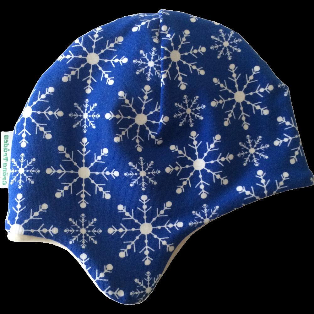 EKO  Fleecefodrad mössa, Snöflingor