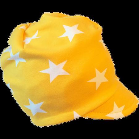 EKO Meps/kepsmössa, Gul med vita stjärnor