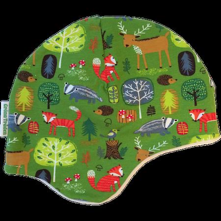 EKO  Fleecefodrad mössa, Grön skog