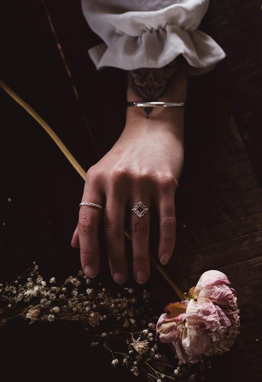 ''Fjäll'' Silver Ring