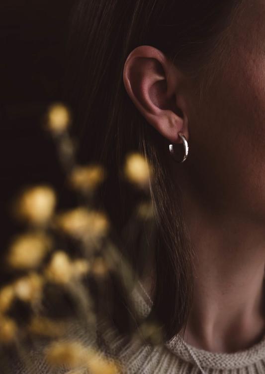 ''Mysk'' Silver Earrings