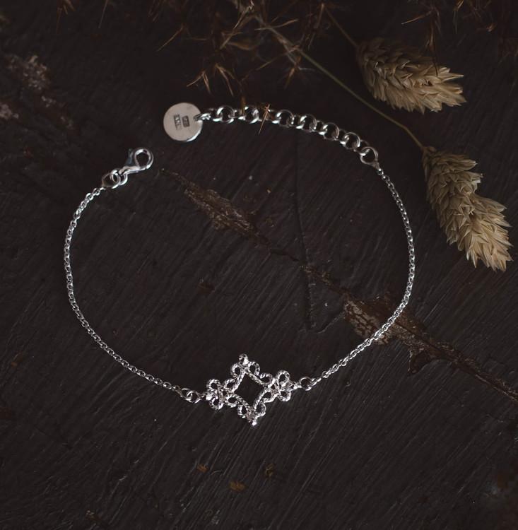 ''Fri'' Silver Bracelet