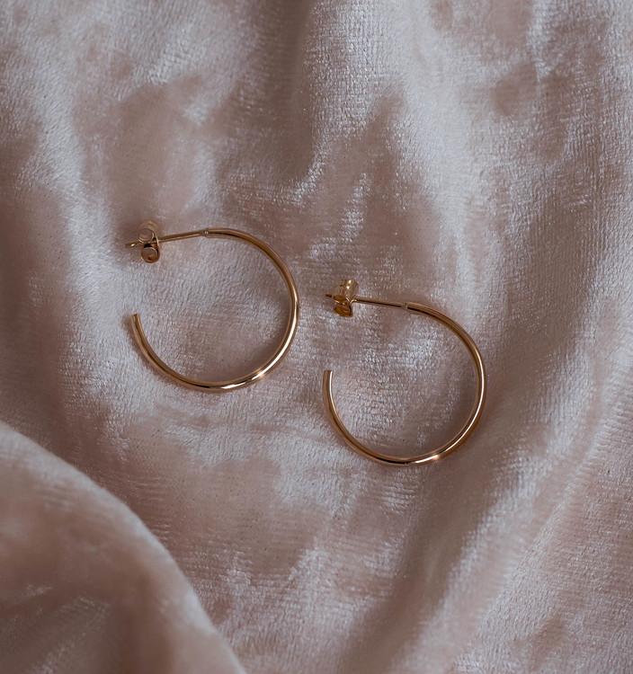 ''Mysk'' 18k Red Gold Earrings