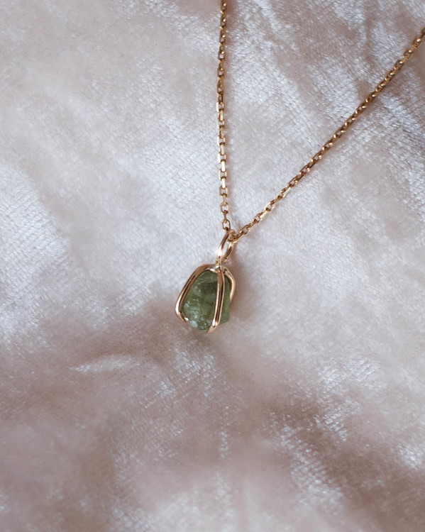 ''Peridot from Norway'' 18k Red Gold