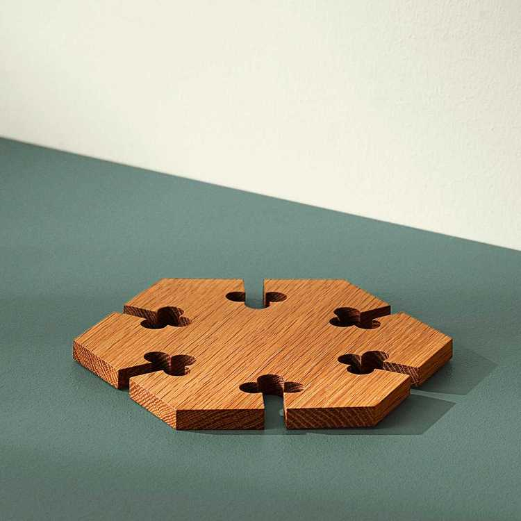 """""""Gourmet Wood"""" Hexagonalt grytunderlägg"""