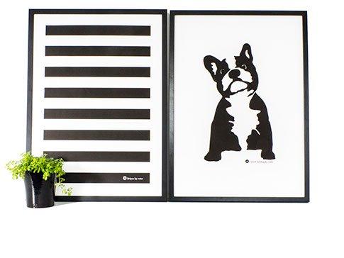 "Affisch ""French Bulldog"" flera storlekar"