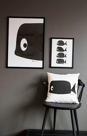 "Poster ""Whale"" flera storlekar och varianter"