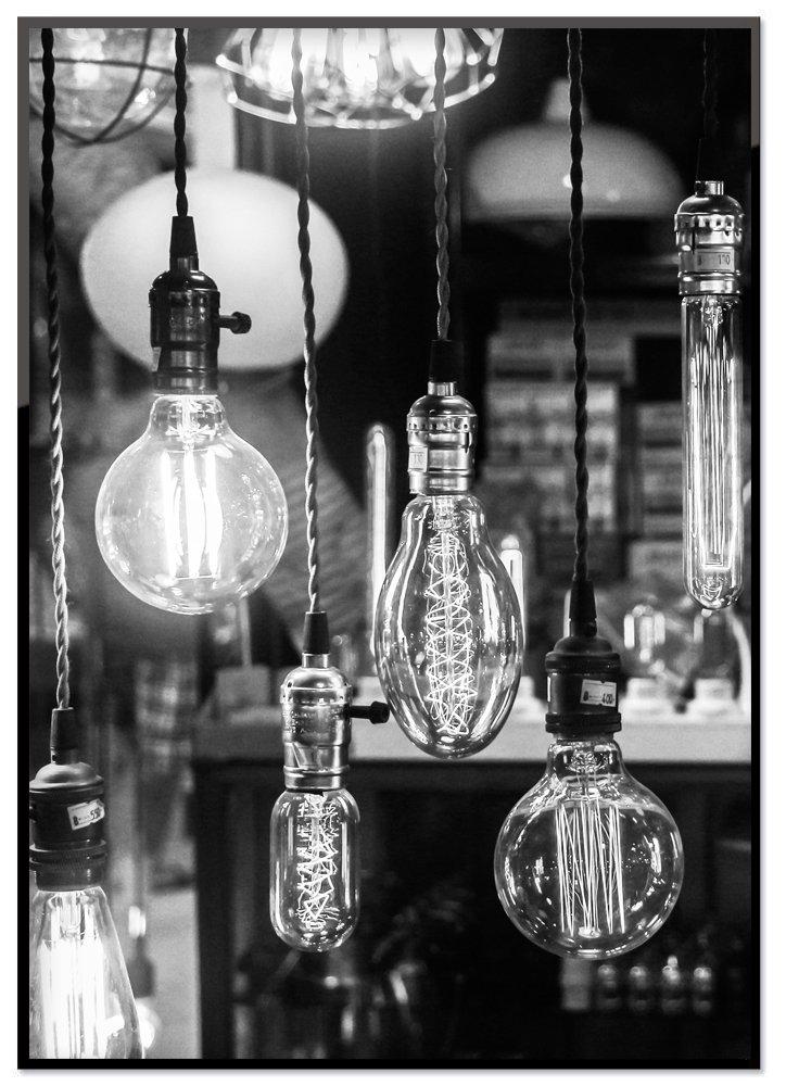 "Poster ""Hanging Bulbs"""