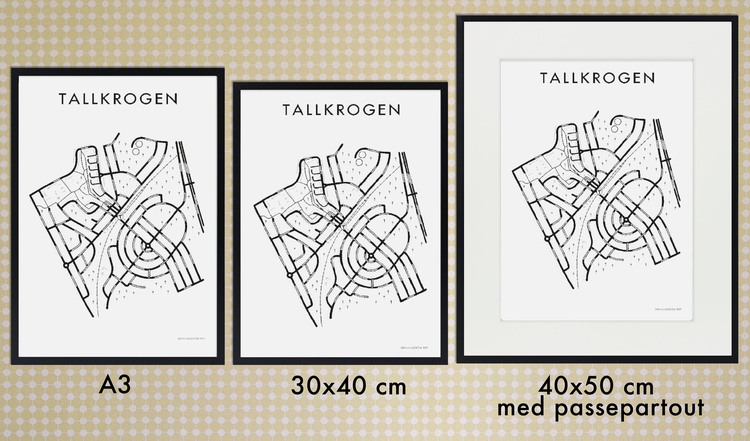 Affischen Enskede postort + Enskede gård + Enskededalen