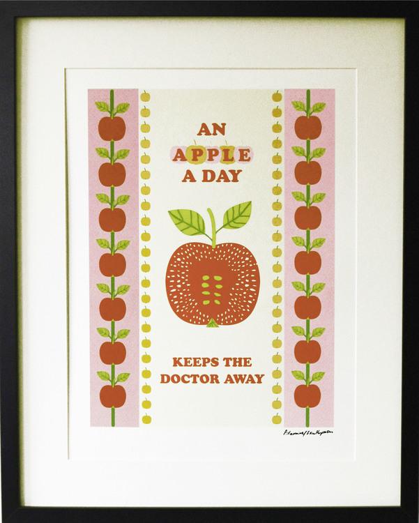 Grafiska trycket An Apple a Day