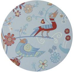 Grytunderlägget Blomfåglar blå