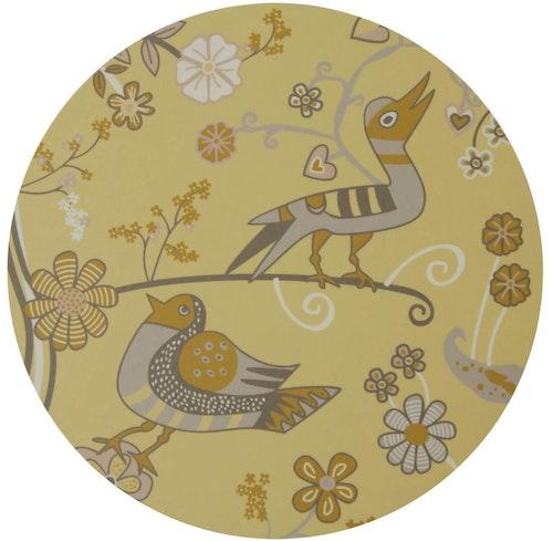 Grytunderlägget Blomfåglar gula