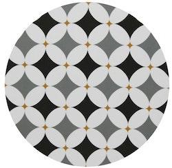 Grytunderlägget Grafiska Cirklar grå