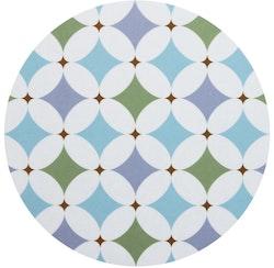 Grytunderlägget Grafiska Cirklar lila