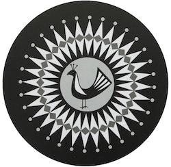 Grytunderlägget Svart fågel svart