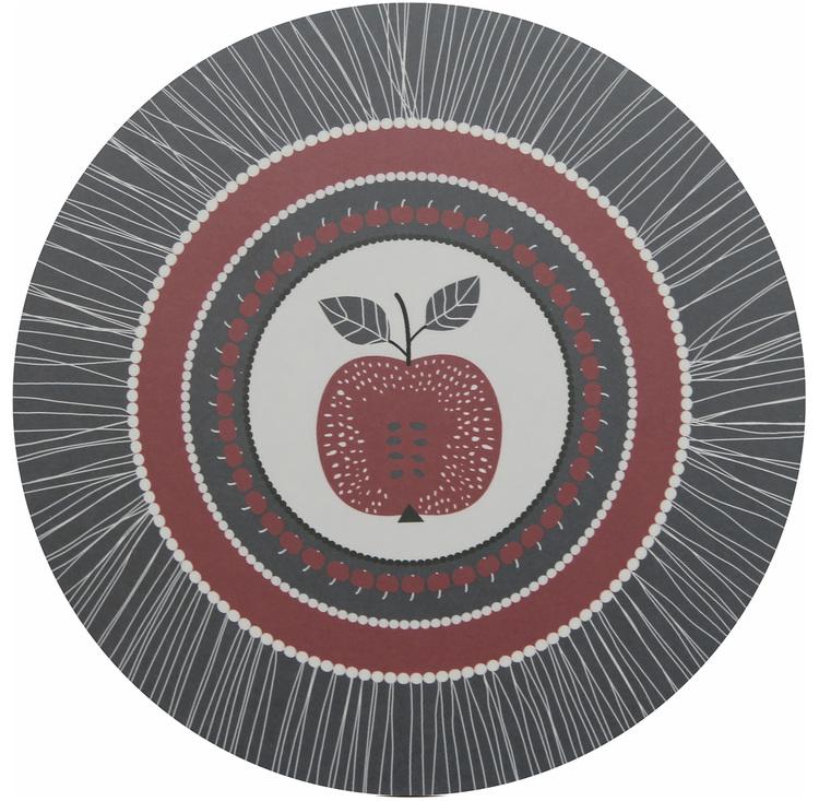 Grytunderlägget Äpple Grå
