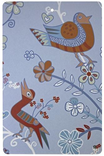 Skärbrädan Blomfåglar blå