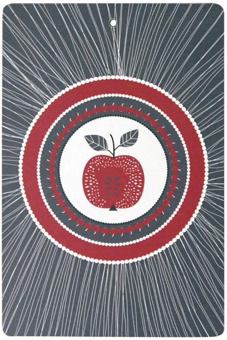 Skärbrädan Äpple grå